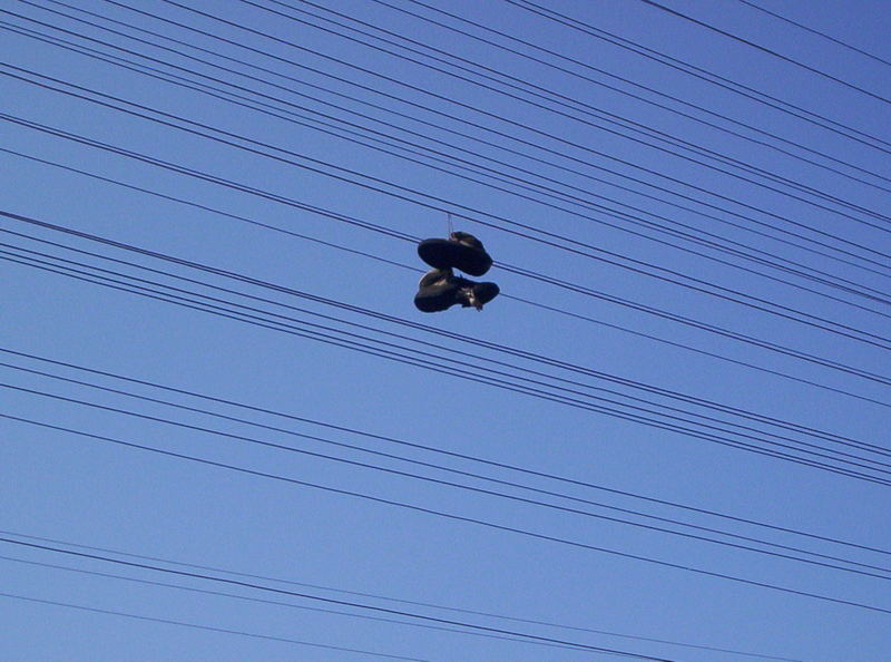 Shoes on the wires