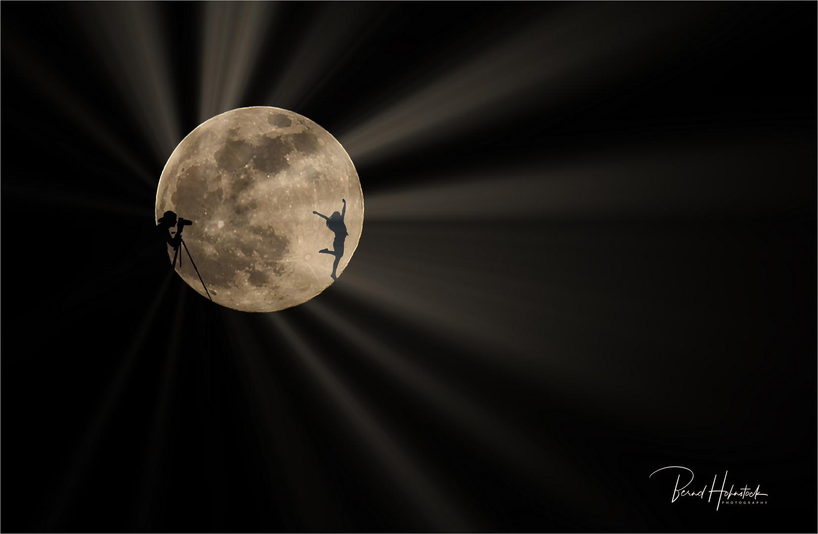 Shooting auf dem Mond ....