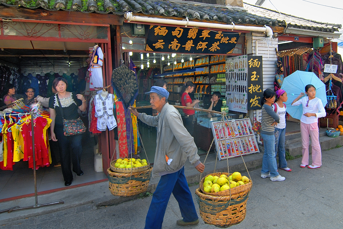 Shopping alley in Old Town Dali