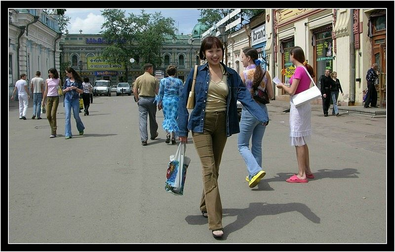Shopping in Irkutsk...