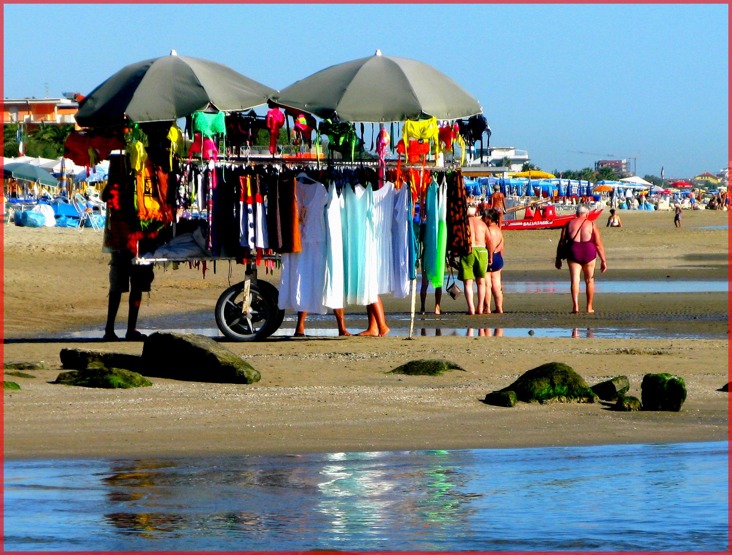 Shopping in spiaggia