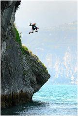 short man jumping