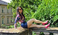 Showing pink Heels