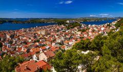 Sibenik Altstadt, Dalmatien, Kroatien