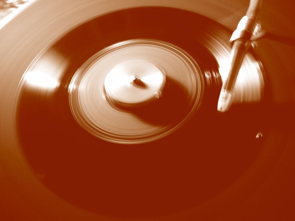 Sich drehendes Vinyl