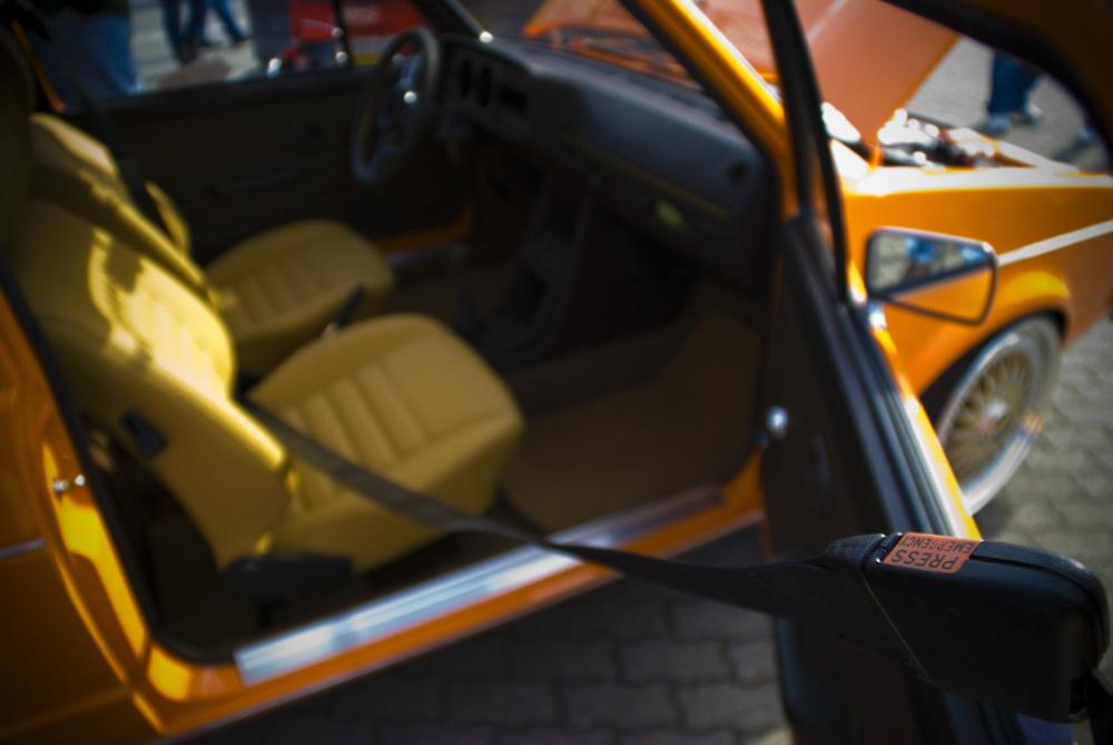 Sicherheitsgurt eines VW Post-Golf I