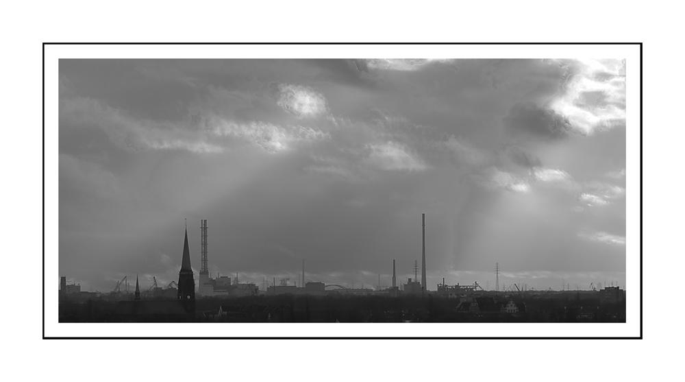 Sicht 4 vom Hüttenwerk Duisburg / vue du haut fourneau