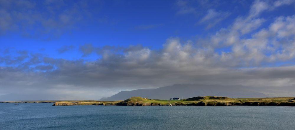 Sicht von Reykjavik aus