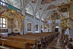 Sicht zur Orgel in der Klosterkirche Au
