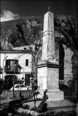 Sicily, Isnello, monument to the fallen