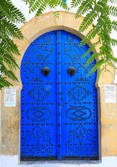 """Sidi Bou Said - Eingang zu """"Blau-Weiß"""""""