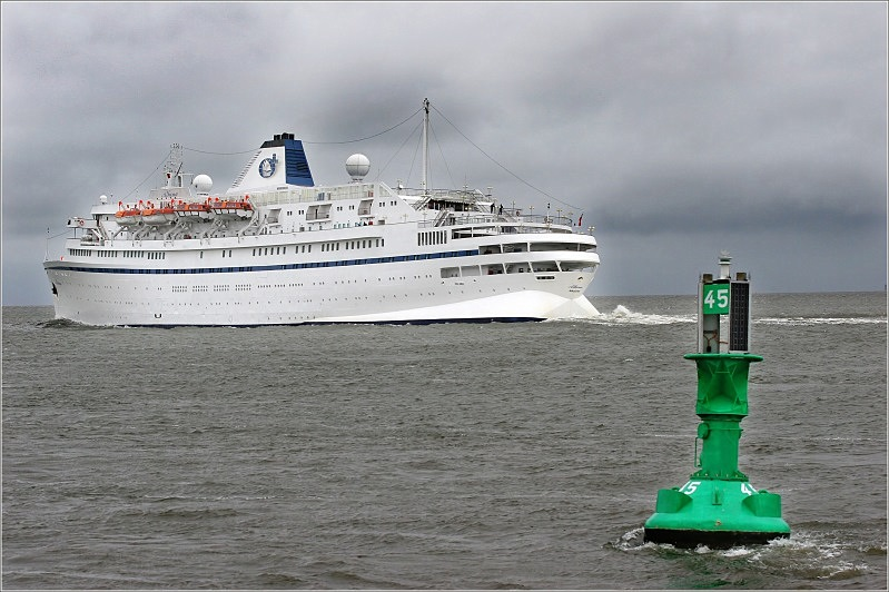 Sie hat die Andrea Doria versenkt...
