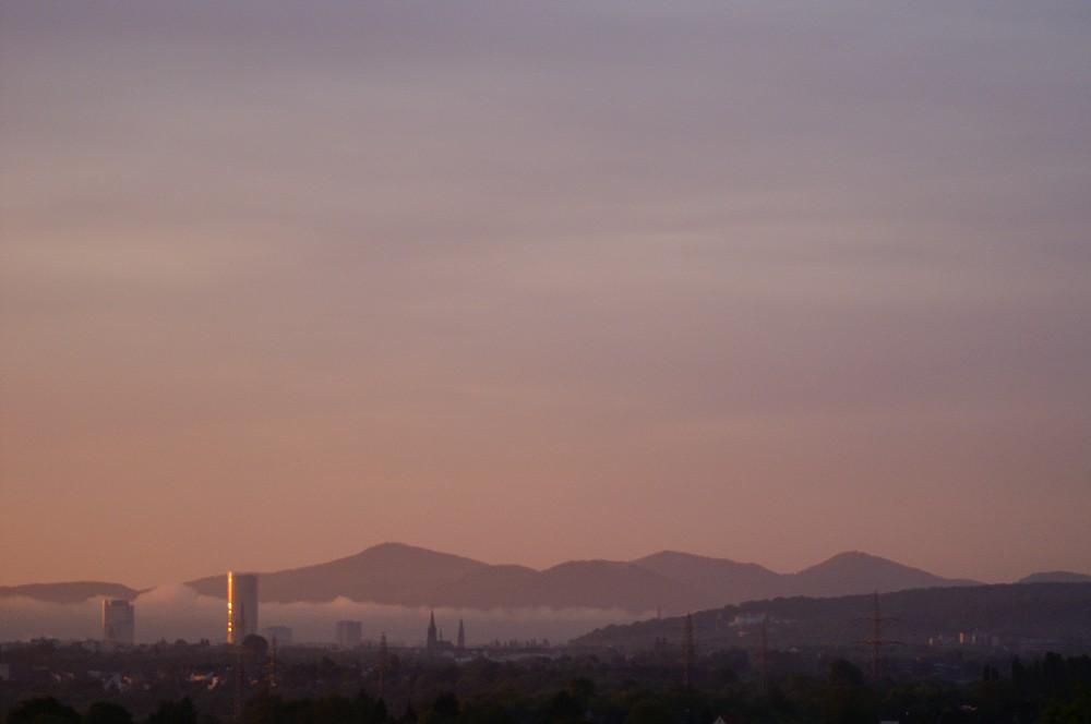 Siebengebirge am Morgen