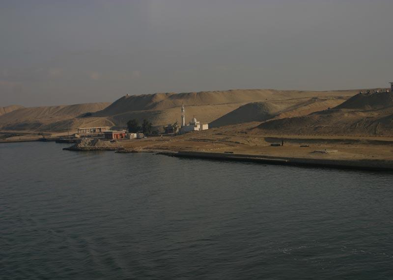 Siedlung am Suezkanal
