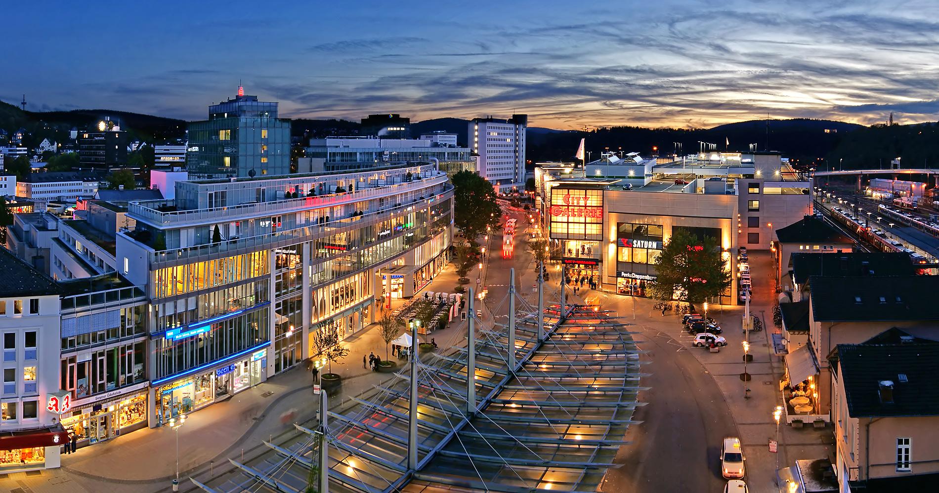 Siegen-City am Abend