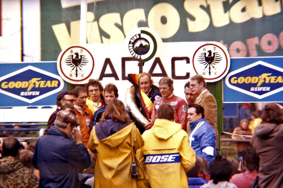 Siegerehrung 300km Nürburgring 1977