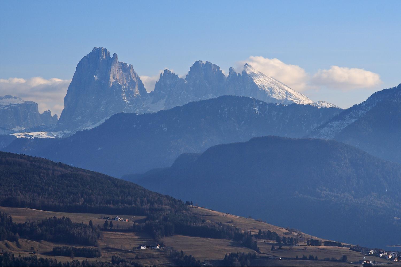 Sieht aus wie Frühling in den Südtirolen Dolomiten