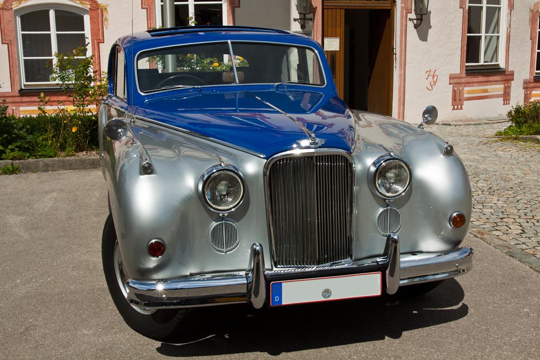 Silberblauer-Jaguar