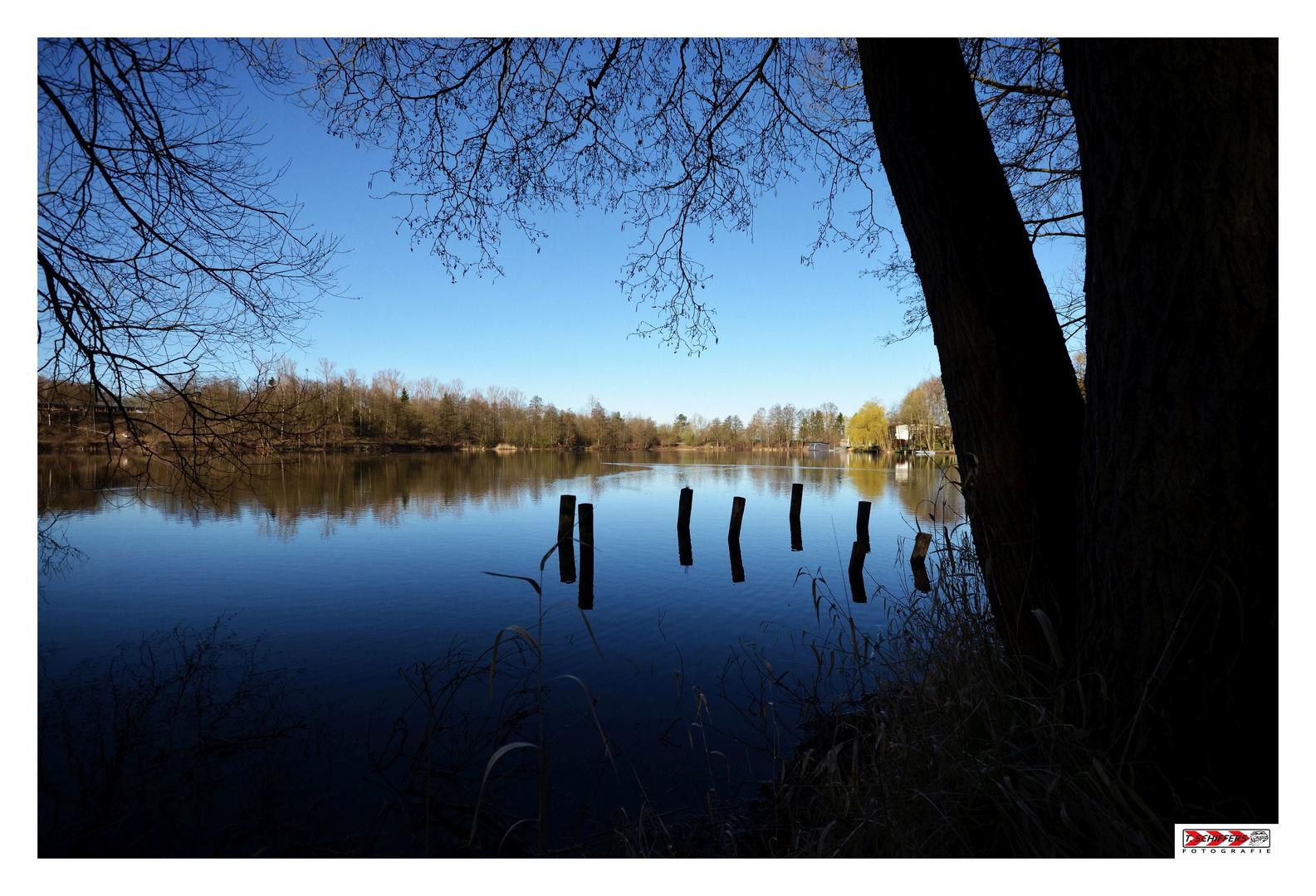 Silbersee - frühmorgens - eine Oase der Ruhe