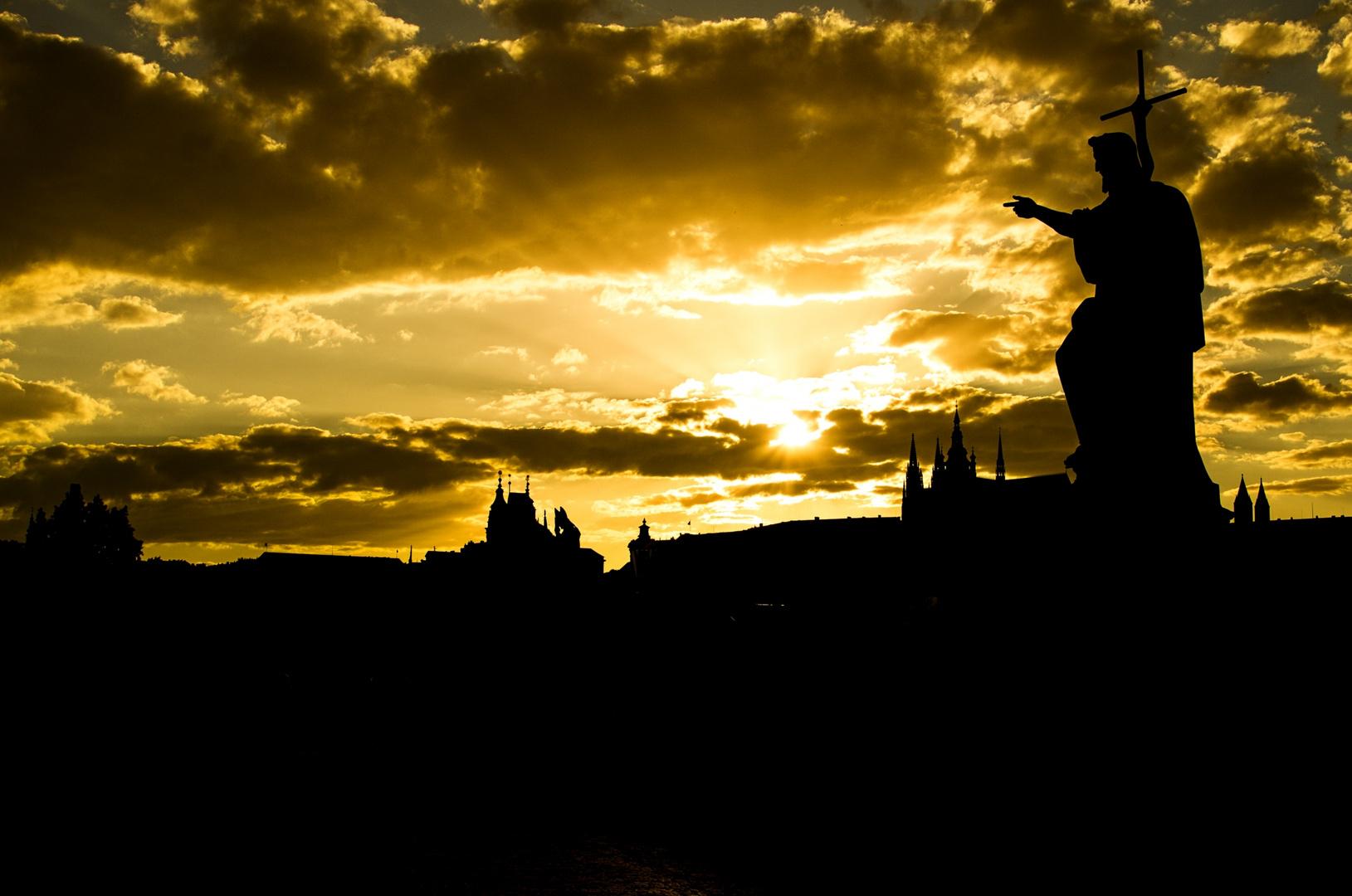 Silhouette Prager Burg