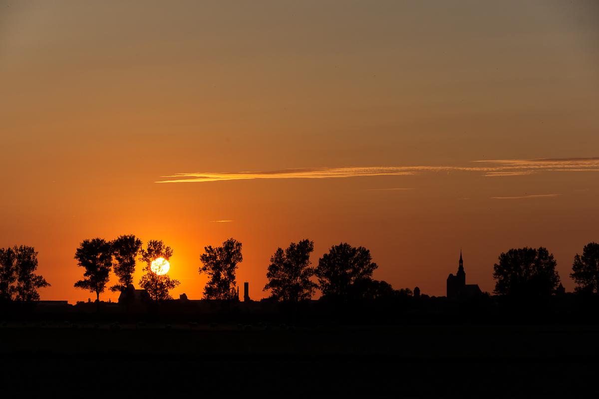 Silhouette von Tangermünde