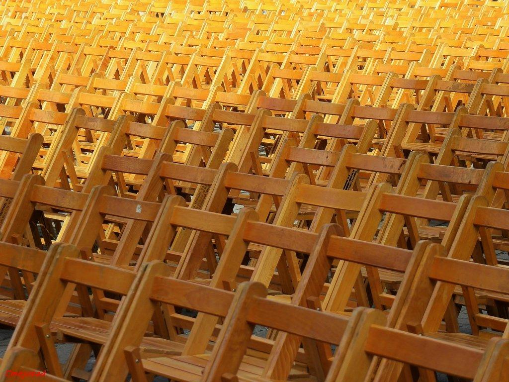 sillas esperando
