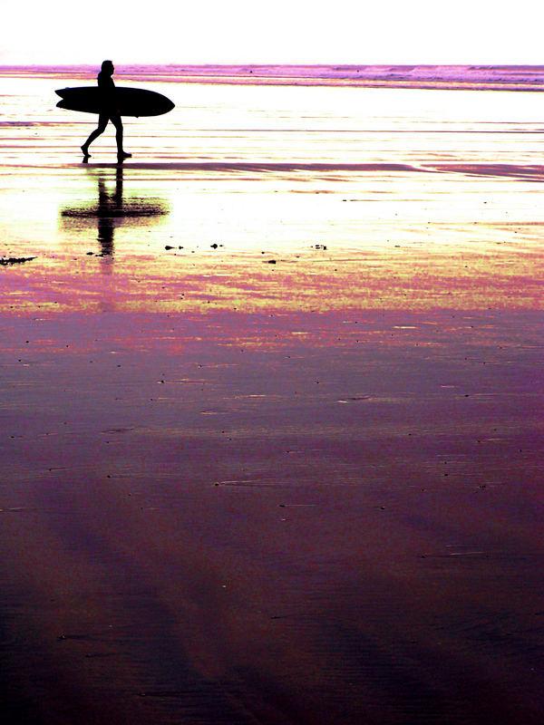 Silouette Surfer