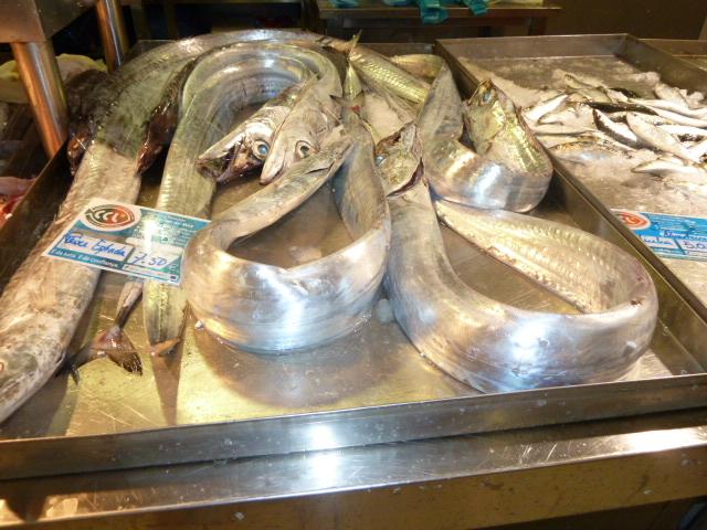 Silver fish In the Faro,Portugal Fish Market