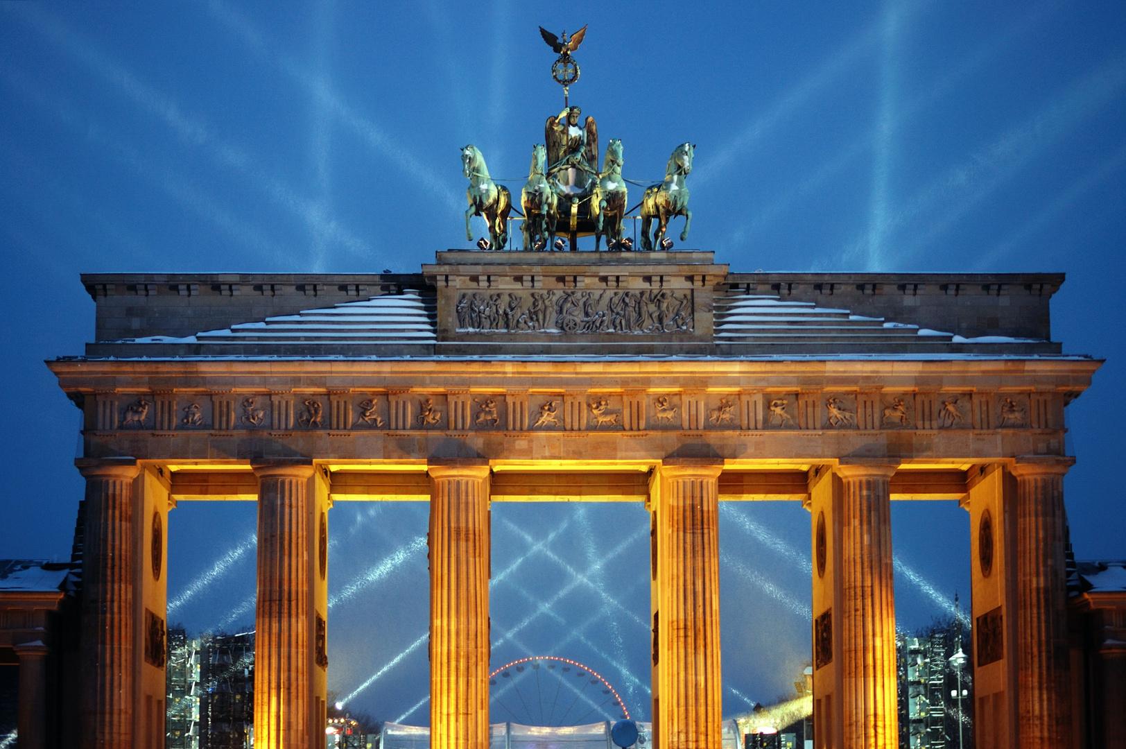Silvester 2010 am Brandenburger Tor