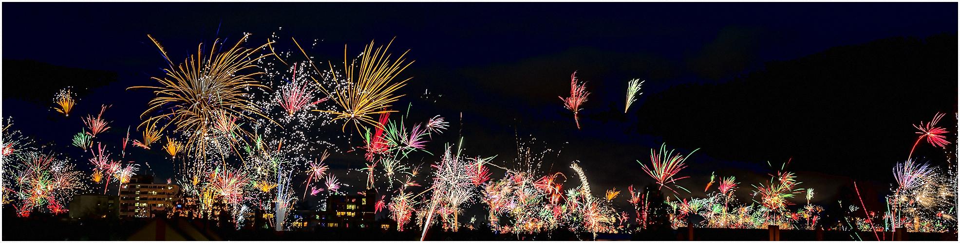 Silvester-Feuerwerks-Panorama