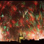 Silvesterfeuerwerk über Aachen