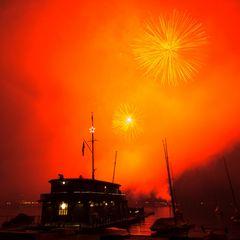 Silvesterfeuerwerk Zürich Neujahr 2010