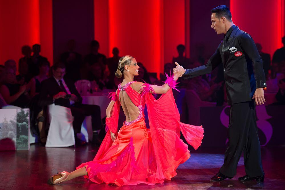 Simone Segtori & Anette Sudol (Weltmeister im Standardtanz 2014) beim Tango