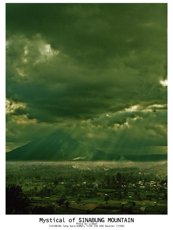 Sinabung Mountain in North Sumatera