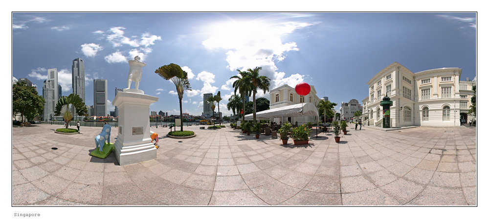 Singapore, Raffles Landing Place