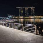 Singapur Bay bei Nacht