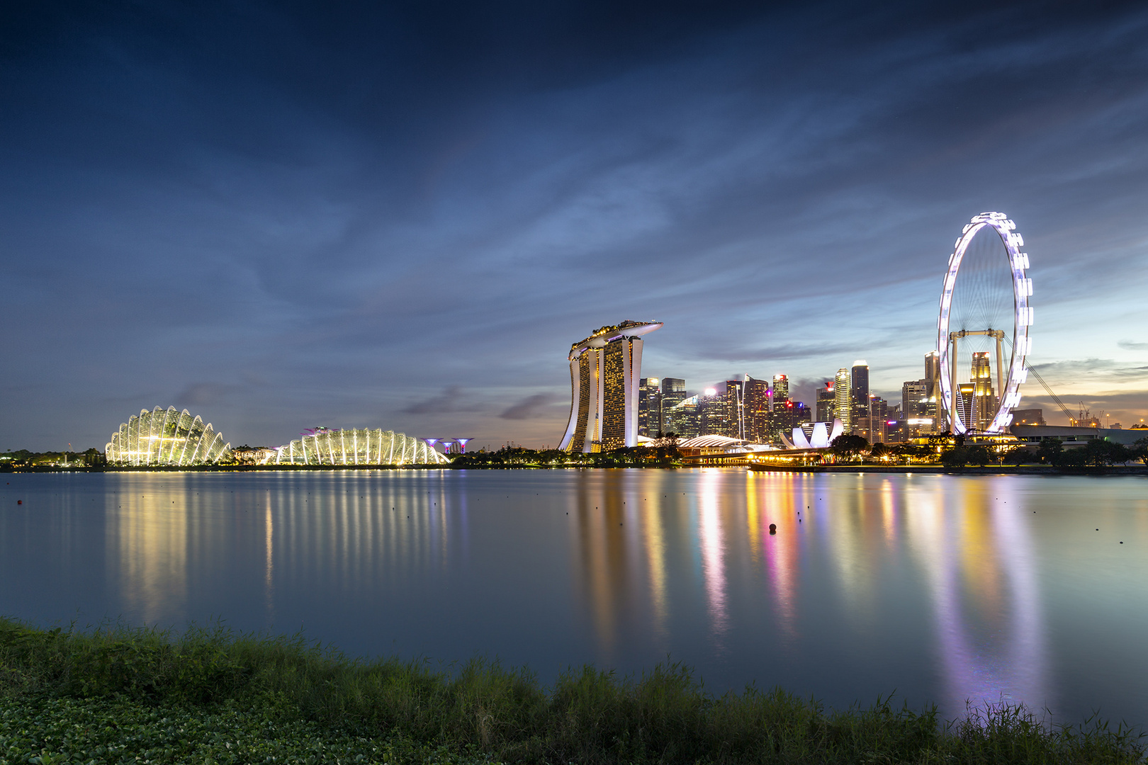 Singapur - blaue Stunde