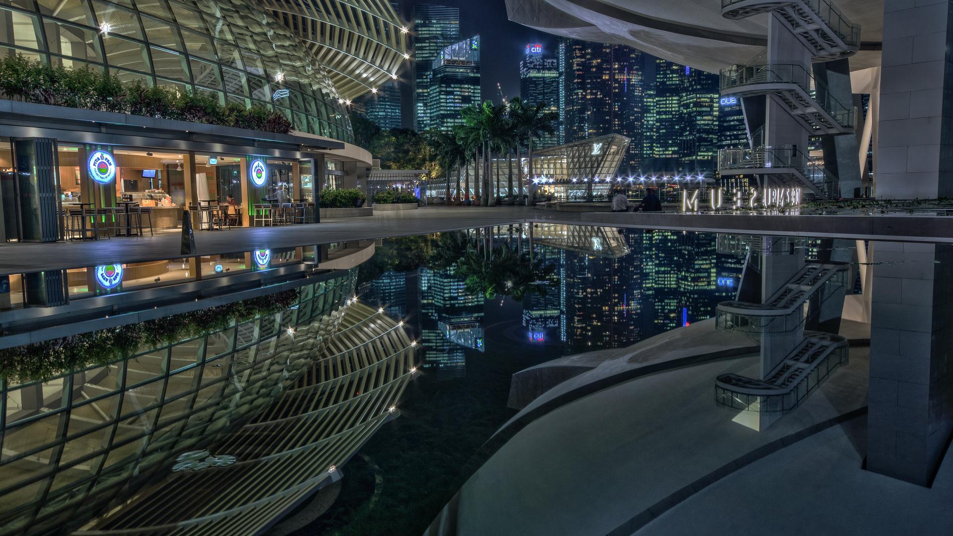 Singapur Marina Bay ArtScience Museum / Skyline