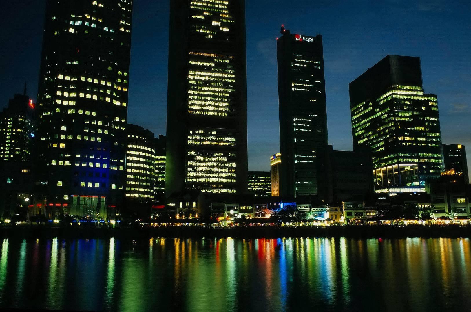Singapur - Nachtbild
