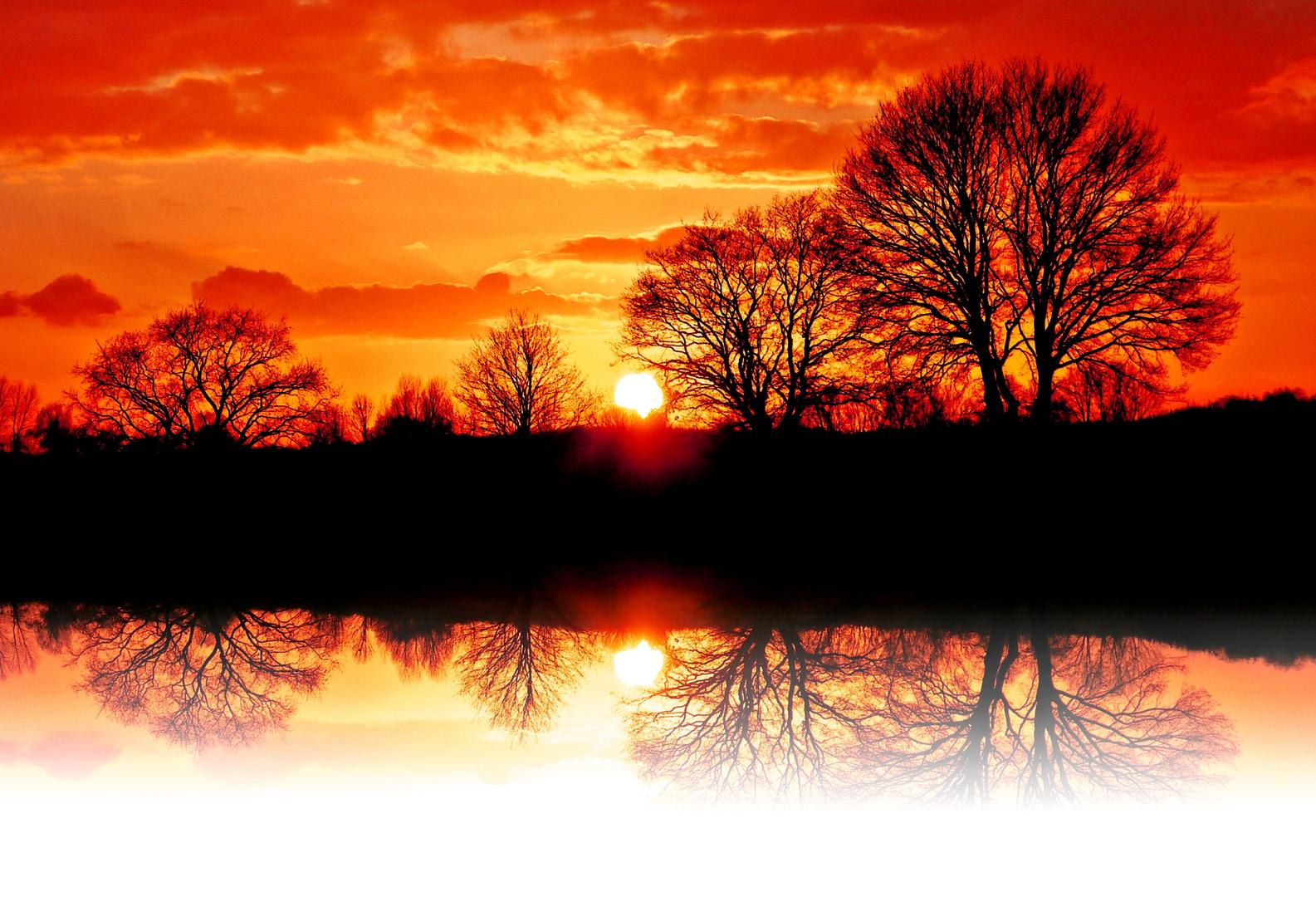 Sinkende Sonne...