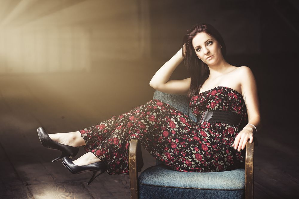Sitting in a chair