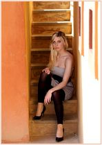 Sitting on the stairs.....