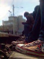 Sitting on Trainstations