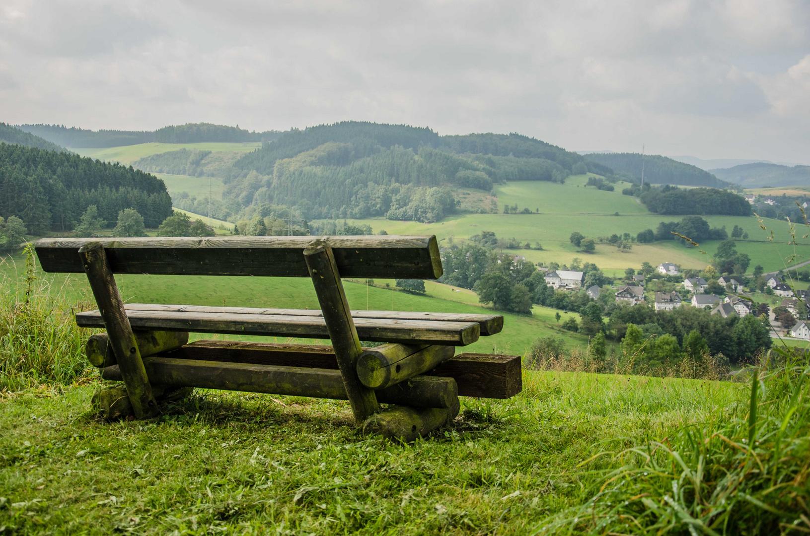 Sitzgelegenheit mit Aussicht
