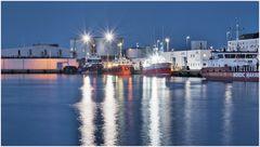 Skagen Hafen am Abend