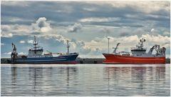 Skagen Hafen im Gegenlicht