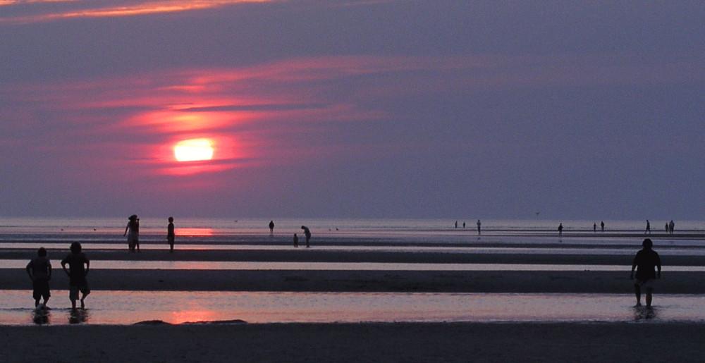 Skaket Beach on Cape Cod Bay, Orleans.