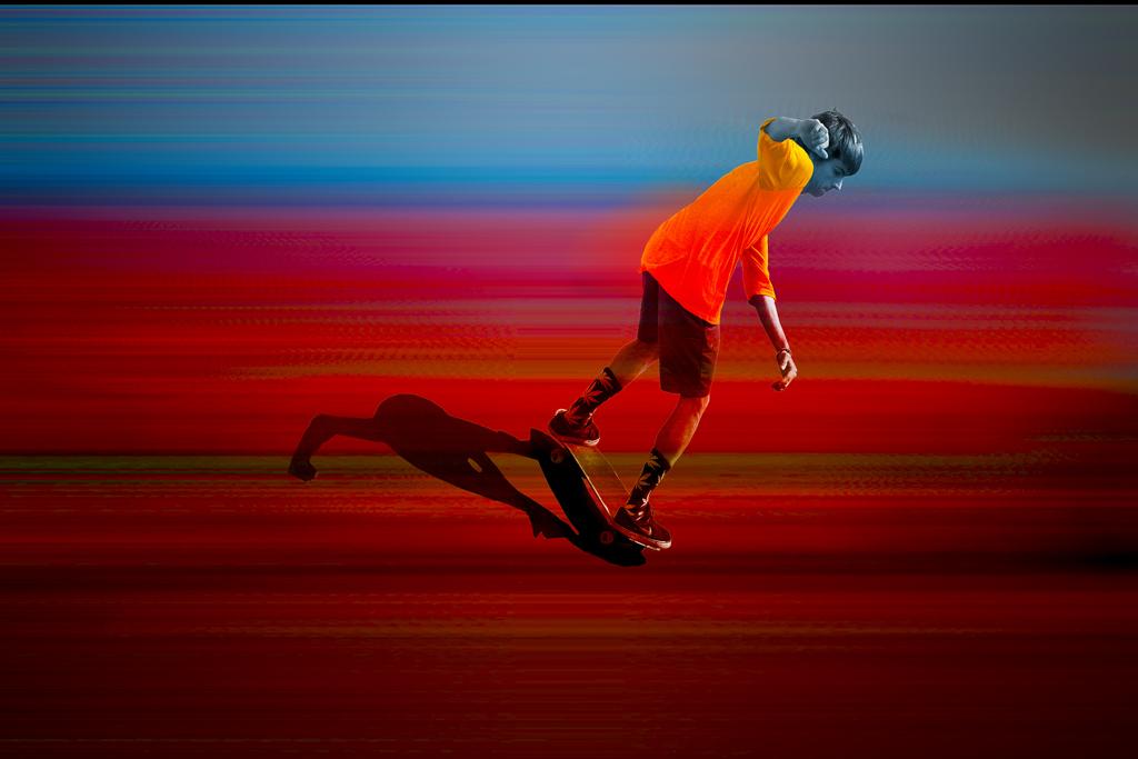 Skateboard à la manière de...