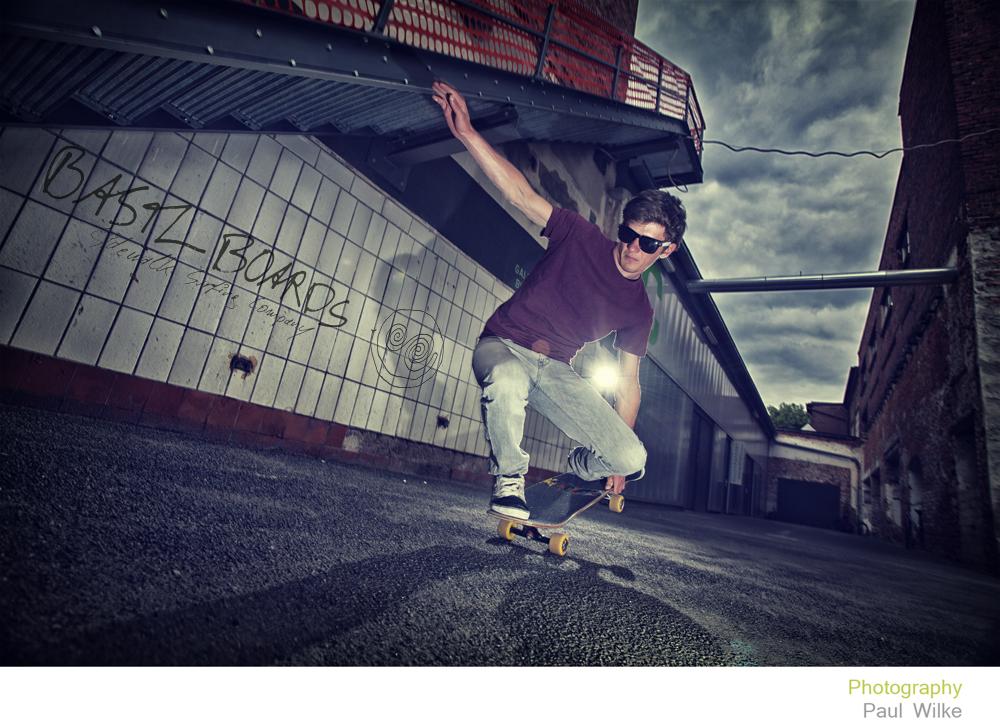 Skaterportrait für Bastl Boards