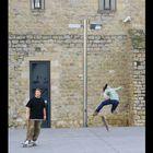 Skaters in Barcelona, Spain